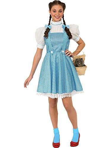 Rubie's Costume Wizard of Oz Adult Dorothy Dress and Hair Bows, Multicolor, Teen -