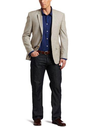 Tommy Hilfiger Men's Trim Fit 2 Button Side Vent Mini Houndstooth Sport Coat