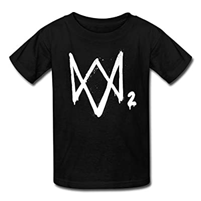 Watch Dogs 2 Logo2 Youth Retro Pre-cotton Short Sleeve T-Shirt