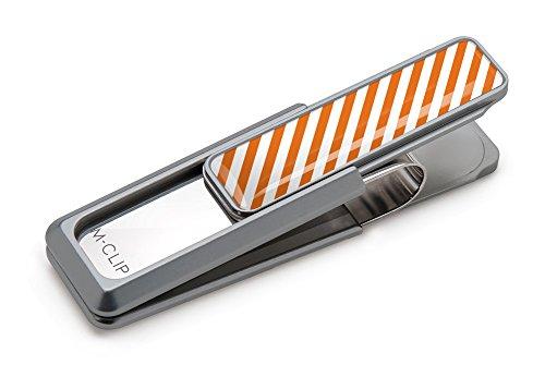 M Stripes Orange Money Clip Stripe Team Clips Dark White amp; TExrTqvY
