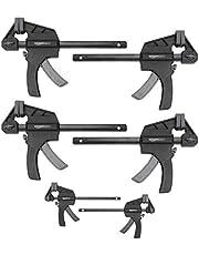 Amazon Basics 6-Piece Trigger Clamp Set - 2-Pieces 4-Inch, 4-Pieces 6-Inch