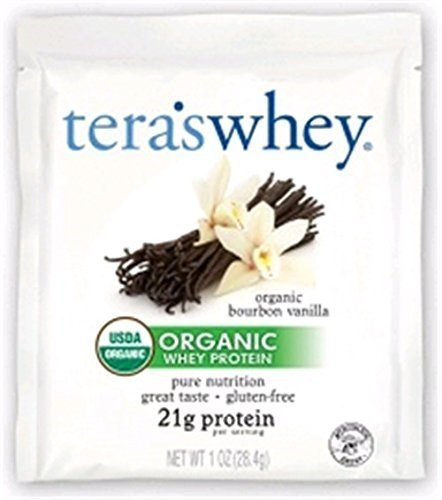 tera's: Organic Low-Carb Gluten-Free Certified Whey Protein, Bourbon Vanilla, 1 oz ea (Case of 12) (2 Pack) by tera's
