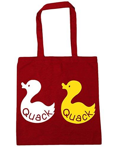 10 Duck Gym Red Bag x38cm Tote HippoWarehouse 42cm Classic Quack Beach Shopping litres BIp5Ozwq