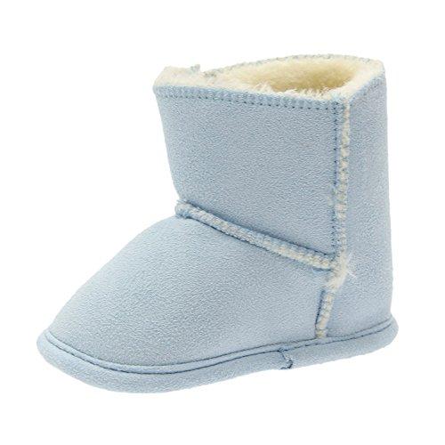 Pour Garçons filles Hiver Neige Bébé Chaud Fourrure Clair Antidérapant Enfant Bottes Bozevon Bleu De Souple Chaussures Bottines Sole wzqFwdBp