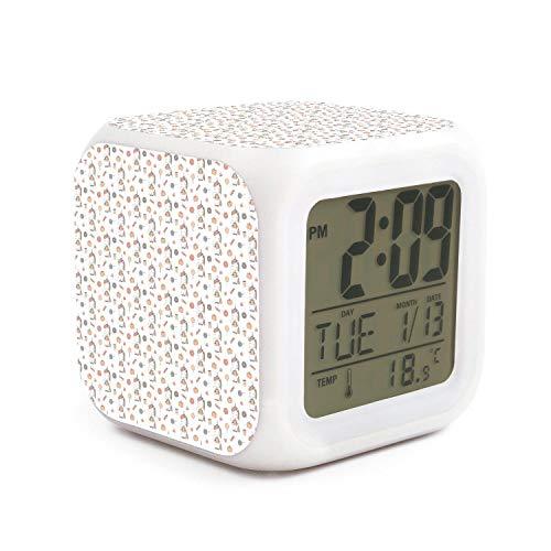 HOTMN Unicorn Cute Cartoon Halloween Style Fashion Multifunction Digital Desk Alarm Clock with LED Touch Light Desk Watch Table Clock]()