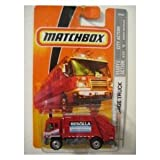 Mattel Matchbox 2008 MBX City Action 1:64 Scale Die Cast Metal Car #46 - 08 Garbage Truck RED NEW BED LLA