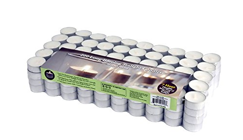 Stonebriar Long Burning Tealight Candles, 6 to 7 Hour Extended Burn Time, Bulk 200-Pack by Stonebriar