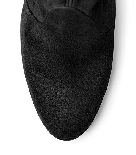 Stuart Weitzman Botas de Highland Over-The-Knee para mujer Black Suede