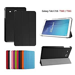 Samsung Galaxy Tab E 9.6-Inch SM-T560/SM-T561 Case, Samsung Galaxy Tab E 9.6-Inch SM-T560/SM-T561 Cover, DEENOR PU Leather Case Cover with Auto Sleep / Wake Feature for Samsung Galaxy Tab E 9.6-Inch SM-T560/SM-T561 Tablet. (BLACK) by DEENOR