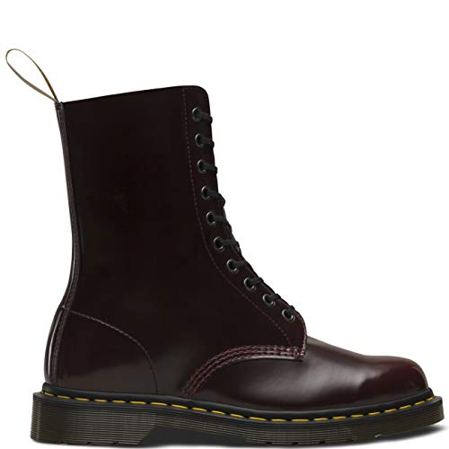 cherry Stivali Red Dr 600 – 1490 Cambridge Martens Rosso Unisex Vegan Adulto Brush qwg4Rw8