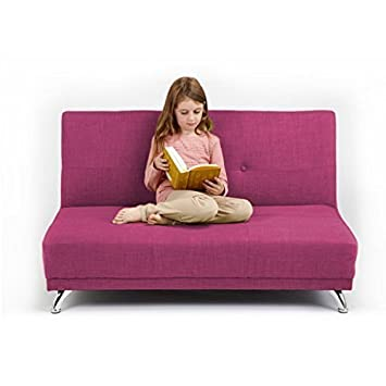 Clic Bedroom Furniture   Shopisfy Children S Convertible 2 Seater Clic Clac Sofa Bed Orchid