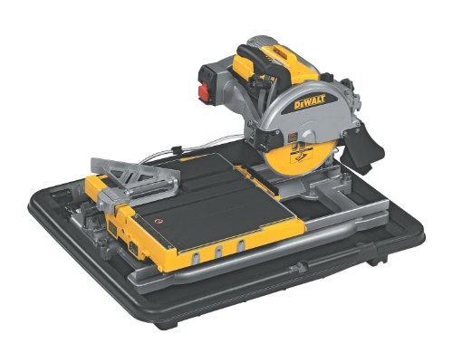Review DEWALT D24000 1.5-Horsepower 10-Inch Wet Tile Saw