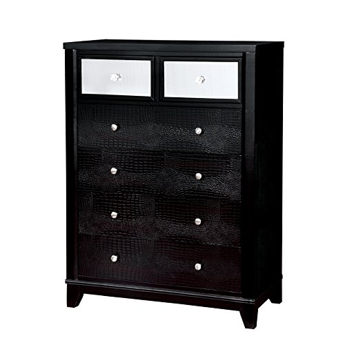 Wood Dresser N Mirror (HOMES: Inside + Out IDF-7289C Omalanta Chest Contemporary)