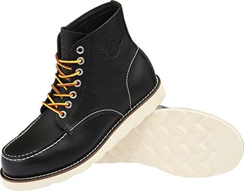 Båt Ö Arv Män Ursprungliga Klassiska Läderklänningen Stövlar M6701-svart