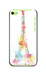 Greatest Eiffel Tower Pattern DIY Phone Lifeproof Defender Hard Back Case Cover Compatible With Iphone 5C (Eiffel Tower colorful 16)