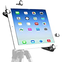 iShot G7 Pro iPad Pro 9.7 / iPad 5 Tripod Mount Holder Works with or without a Case Adjustable Metal Frame Securely Mount Your iPad to ANY 1/4 inch Standard Camera Tripod, Monopod or Mic Music Stand