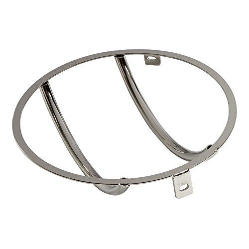 Smittybilt 5460 Euro Stainless Steel Headlight Cover - 2 Piece (Covers Euro Headlight)