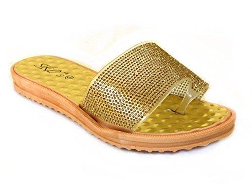 Gold Tongs YFH 0013 SKO'S femme pour dfwRftq