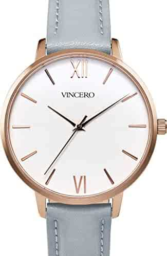 2621bdeb535bc Vincero Luxury Women s Eros Wrist Watch — Rose Gold + White dial with a Fog  Leather