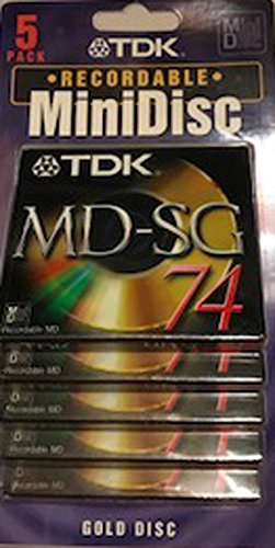 TDK Recordable Mini Disc MD-SG 74 - 5 Pack