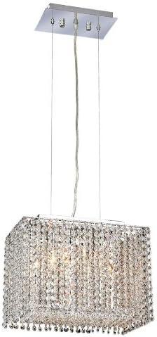 Elegant Lighting 1291D14C-CL RC Moda 11-Inch High 2-Light Chandelier, Chrome Finish with Crystal Clear Royal Cut RC Crystal