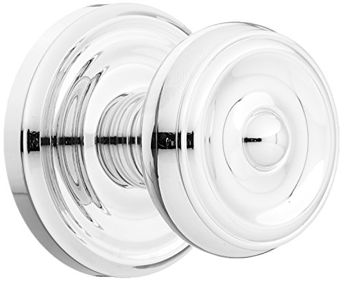 Chrome Classic Polished Rosette (Classic Rosette Set With Waverly Knobs Double Dummy In Polished Chrome. Old Door Knobs.)