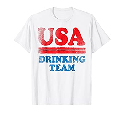 Funny Independence Day Shirt USA Drinking Team 4th of July