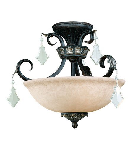 Dolan Designs 2105-148 Florence 3 Light Semi Flush mount, Phoenix