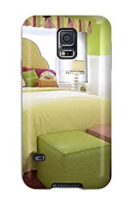 5880548K47630063 New Tpu Hard Case Premium Galaxy S5 Skin Case Cover(cushy Pink And Green Girl8217s Bedroom With Work Desk)