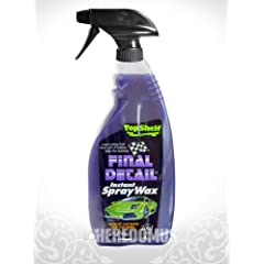 Final Detail Instant Spray Wax with Dupont™ Zonyl® brand fluoroadditive 22oz Bottle