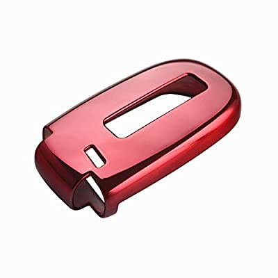 DEWHEL TPU Key Fob Protective Cover Case for Dodge Charger Challenger Dart Durango Journey, Chrysler 200 300, Jeep Grand Cherokee, Renegade etc (Chrome Red): Automotive