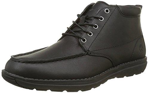 Timberland Chukka Men Work Boot (Timberland Men's Barrett Park Moc Toe Chukka Boot,Black Full Grain Leather,US 7.)