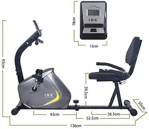 ISE Bicicleta Estática de Spinning Ejercicio Gimnasio con 8 ...