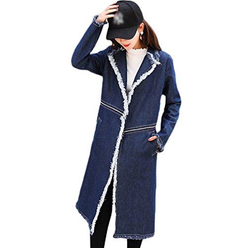 WanYang Abrigo Señoras del Invierno del Otoño de las Mujeres Cómodas Casuales de la alta Calidad Outwear Mezclilla