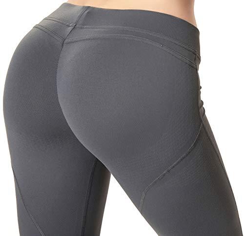 RUNNING GIRL Butt Lifting Leggings,Scrunch Butt Shaperwear Compression Leggings Workout Yoga Pants for Women (1068,XL, Deep Grey) (Vs Gym Pants)