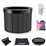 Portable Car Commode Folding Toilet Seat - Perfect for Camping, Hiking, Trips, Traffic jam