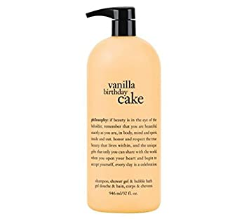 Philosophy Vanilla Birthday Cake Shampoo Shower Gel Bubble Bath 32