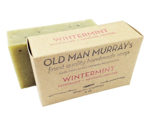 Wintermint Peppermint, Menthol Crystal All-Natural Soap (5 bars)