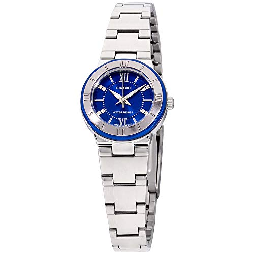 (Casio Enticer Blue Dial Stainless Steel Ladies Watch LTP1368D2ADF)