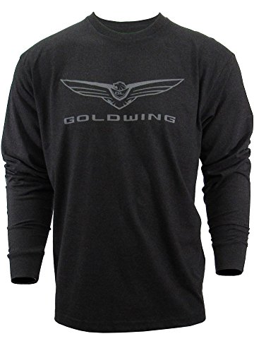 Honda Goldwing Mens Long Sleeve Tee Graphite (Medium)