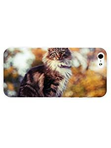 3d Full Wrap Case for iPhone 5/5s Animal Fluffy Cat21 by icecream design