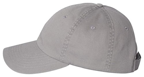 Chino Twill Hat (Valucap - Unstructured Washed Chino Twill Cap with Velcro - VC350-Grey)