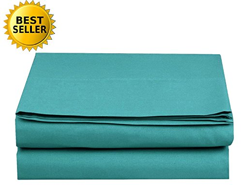 Luxury Fitted Sheet on Amazon! - HIGHEST QUALITY Elegant Comfort Wrinkle-Free 1500 Thread Count Egyptian Quality 1-Piece Fitted Sheet, Queen Size, Turquoise