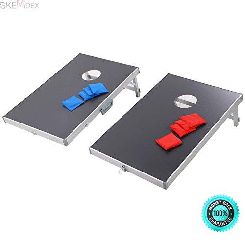 SKEMIDEX---Foldable Bean Bag Toss Cornhole Game Set Boards Tailgate Regulation Baggo bean & bag toss boards bean And bag toss walmart bean Andbag toss -