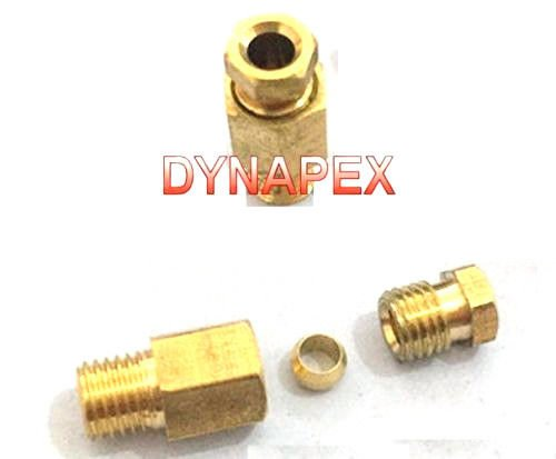 1//8 Nylon Pneumatic MALE STUD 90 degree METRIC BSP tube push fit connector 10mm