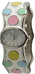 Women's Polka Dot Bangle Watch Easy to Read Dial