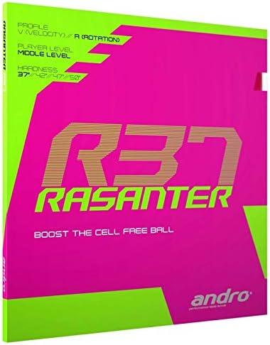 schwarz ANDRO Belag Rasanter R 37 Optionen 2,3 mm