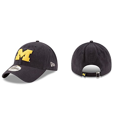 New Era Men's Michigan Wolverines Core Classic Navy One Size Fits All