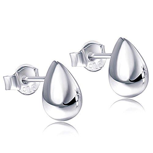 - Fonsalette Teardrop Earrings Drop Earrings Dainty Earrings Minimalist Pear-Shaped Sterling Silver Earrings Stud Earrings for Women Fashion Earrings White Gold Earrings for Women