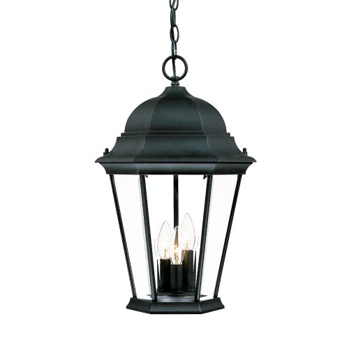 Acclaim 5226BK Richmond Collection 3-Light Outdoor Light Fixture Hanging Lantern, Matte Black